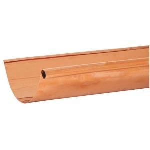 Amerimax Home Products 10 Ft X 5 In Half Round Copper Single Bead Gutter L10cp5ea At The Home Depot Mobile Single Bead Copper Gutters Gutters