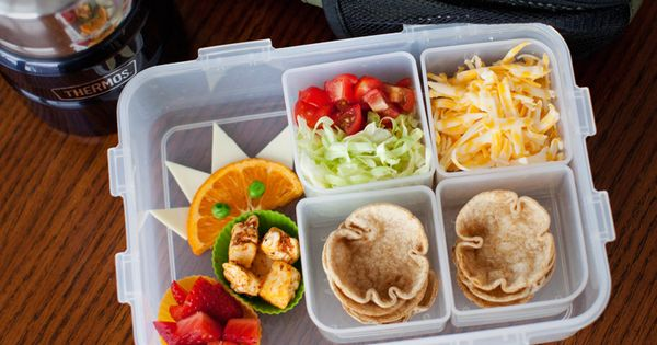 Mini Taco Salads Lunch Idea!