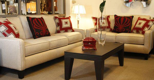 Sof de 2 y 3 plazas con cojines decorativos juegos de - Cojines decorativos para sofas ...