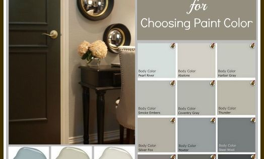 Tips and tricks for choosing the perfect paint colour. Photos of rooms