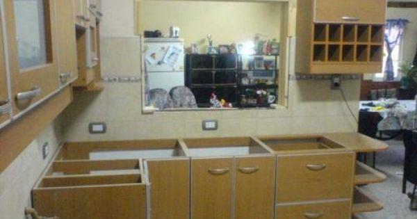 Muebles de cocina plano de alacena de melamina esquinera en l ...