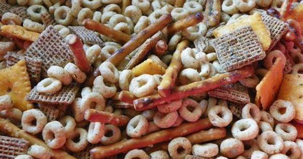 No Bake Nuts And Bolts Tupperware Recipes Homemade Snacks Nuts