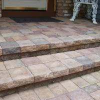 Use Willow Creek Pavers To Cover An Old Concrete Stoop Concrete Porch Porch Steps Stair Gallery