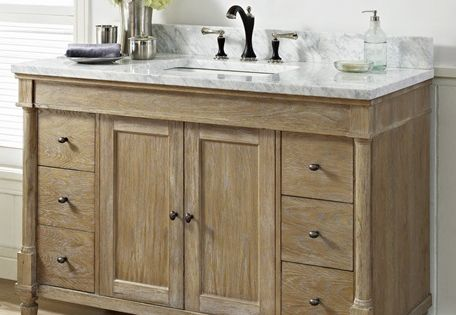 Rustic Chic Weathered Oak 48 Vanity Fairmont Designs Home Bathroom Ideas Pinterest 48