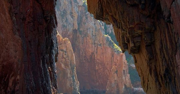 Scandola nature reserve in hubby's Corsica, France - via ASPEN CREEK TRAVEL-