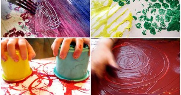 kids art from the Nurture Store. 52 painting ideas for a years
