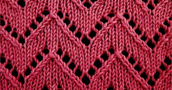 Knitting Lace Chevron Stitch Pattern : Chevron lace stitch pattern baby blankets pinterest
