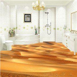 Creative Design Desert Pattern Nonslip And Waterproof 3d Floor
