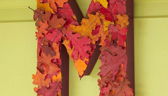 Great Fall Decor Idea - Customize a classic fall wreath by making