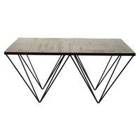 2 Seater Fabric Sofa In Grey Timeo Maisons Du Monde Table Basse Table Basse Carree Table Basse Bois