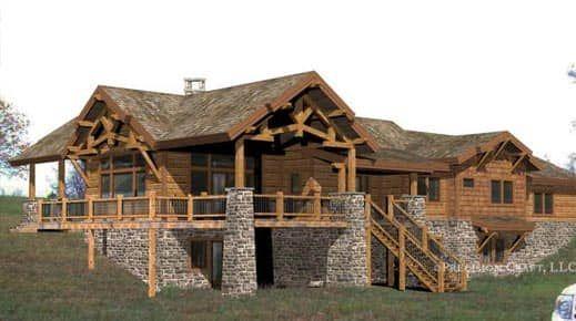 Washington Harbor Milled Log Home Floor Plan Log Homes Log Home Floor Plans Timber House