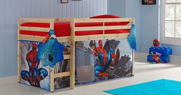 Buy Pine Shorty Mid Sleeper Bed Amp Spider Man Tent At Argos