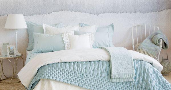 Edred n efecto capiton color verde mar edredones cama for Zara home bedroom ideas