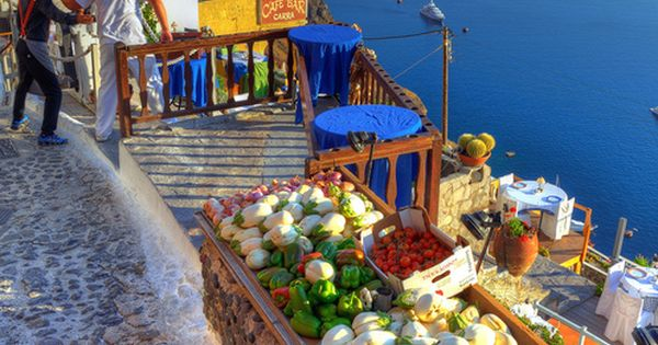 Market in Santorini, Greece. *Not only do I want to go, I