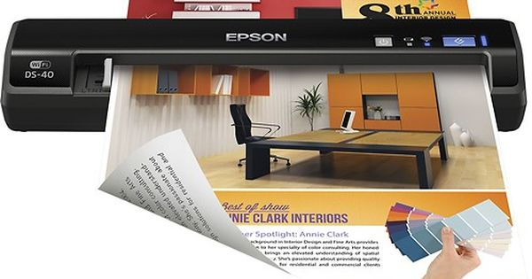 Best Buy Epson Workforce Ds 40 Wireless Portable Color Sheetfed Scanner Black Epson Workforce Ds 40 Portable Scanner Portable Scanner Cool Things To Buy Epson