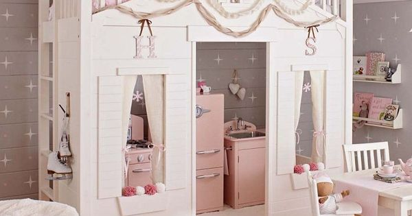 Every little girls bedroom dream! Cottage Loft Bed