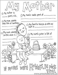 Mother S Day Worksheets Free Printable