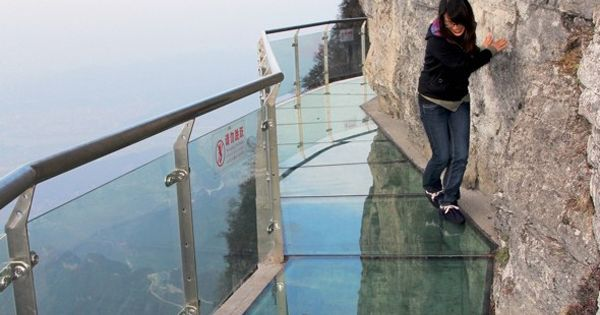 The Walk Of Faith is a glass walkway built off the side