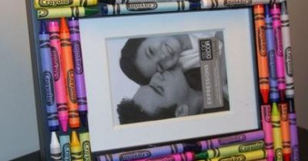 Crayon Picture Frame - Teacher gift idea