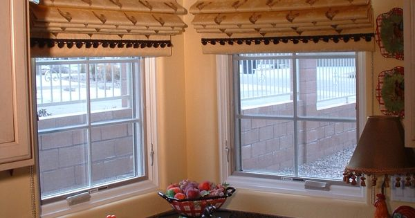 Box Pleat Valances Over Flat Roman Shades Private