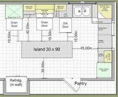 Island Design Traffic Work Triangle Diseno De Gabinete De