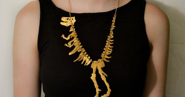 Necklace | Tatty Devine. 'T Rex'. Originally inspired to make this by
