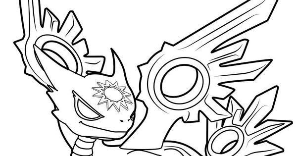 Spotlight The White Dragon Coloring Page From Skylanders
