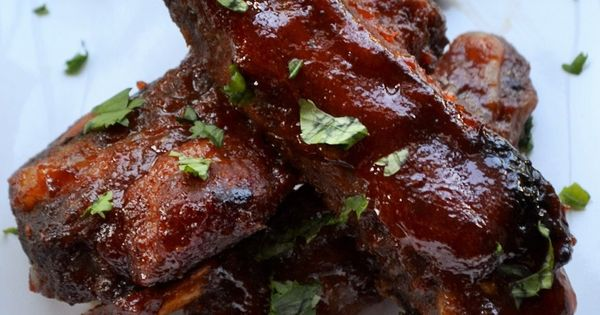 Spicy Asian BBQ Ribs - These quick, oven baked ribs are ...