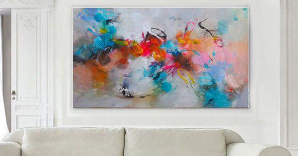 Pintura acr lico lienzo pintura abstracta moderna del - Pinturas acrilicas modernas ...