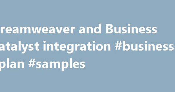 Dreamweaver and Business Catalyst integration #business #plan - sample credit application
