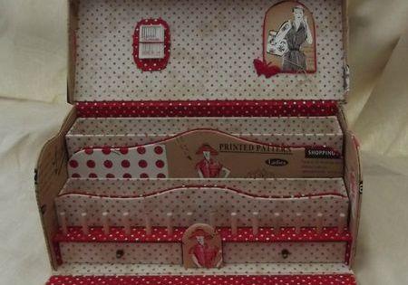 Atelier de la couturiere cartonnage pinterest bo te for Boite a couture originale