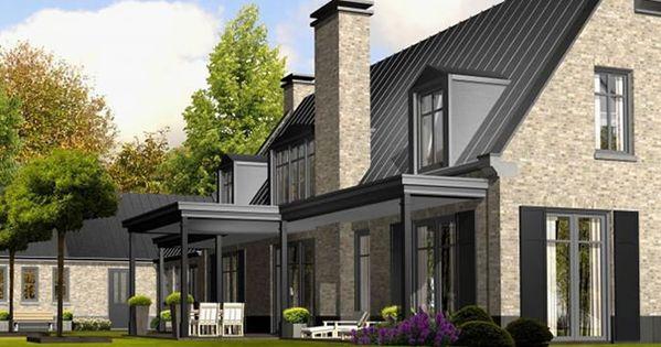 Zinken dak achterzijde plannen nieuwbouw pinterest huizen huis idee n en nieuwbouw - Entree eigentijds huis ...