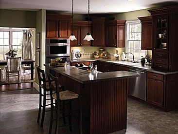 In Love With This Love The Cherry Cabinets Beautiful Kitchen Cabinets Cherry Cabinets Kitchen Kitchen Remodel Design