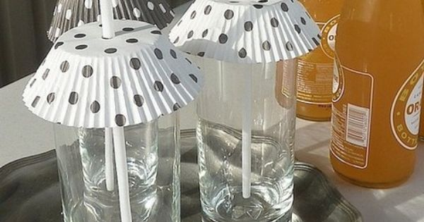 Cute idea - Cupcake Liner Summer Drink Covers... GREAT idea to keep