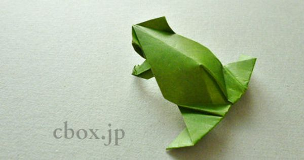 動物の折り紙 すっきりシンプルなカエルの折り紙 By Leyla Tores かえる 折り紙 折り紙 昆虫 カエル 折り紙