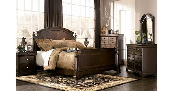 Gorgeous bedroom set leighton poster by ashley furniture 3328 bedroom set pinterest for Ashley millennium bedroom suite