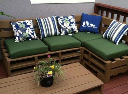 Muebles para exterior hechos con palets muebles para - Muebles exterior palets ...