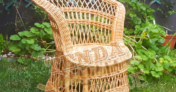 Cadeira Em Vimes Redonda Wicker Chair By Tendadobatoque On