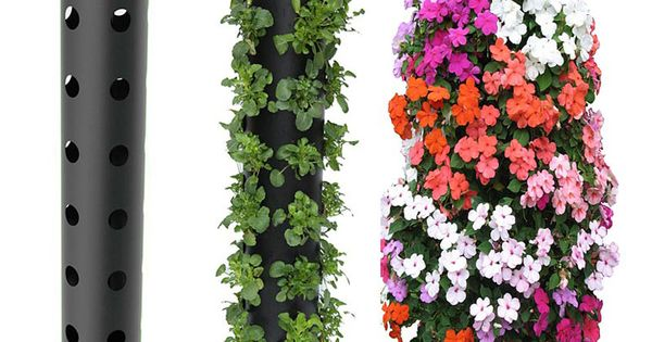 Spring garden ideas- pvc pipe planter for strawberry plants :)