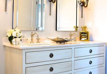 Restoration Hardware Maison Double Vanity Sink In Antiqued