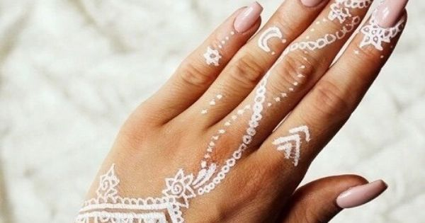 Henna Tattoo Tips : White henna designs tattoos pinterest