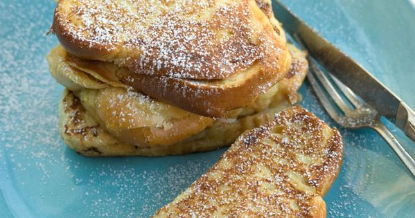 BANANA AND SALTED CARAMEL STUFFED FRENCH TOAST SANDWICH