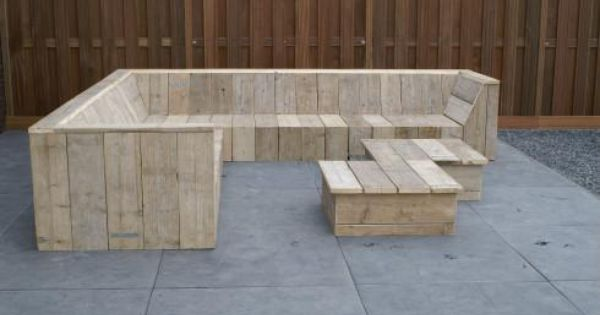 Tuinbank lounge voor in de tuin zijn wij op zoek naar een hoek loungebank van steigerhout - Hoek sofa x ...