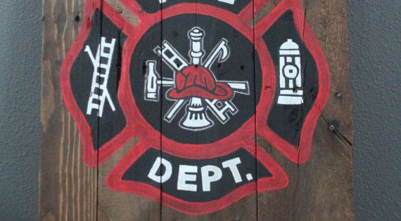 Firefighter Man Cave Signs : Firefighter wooden pallet sign coloring caves and awesome