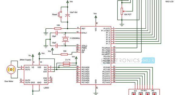 Password Based Door Lock System Using 8051 Microcontroller Door Lock System Microcontrollers Door Locks