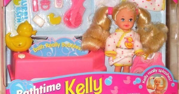 bathtime fun kelly doll playset little sister of barbie