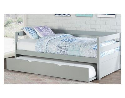 Twin Caspian Daybed With Trundle Gray Hillsdale Furniture With