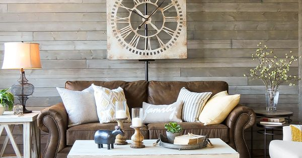 A Farmhouse Living Room That Will Make You Want A Brown