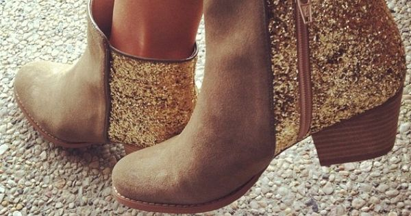 Glitter Booties - sparkle boots