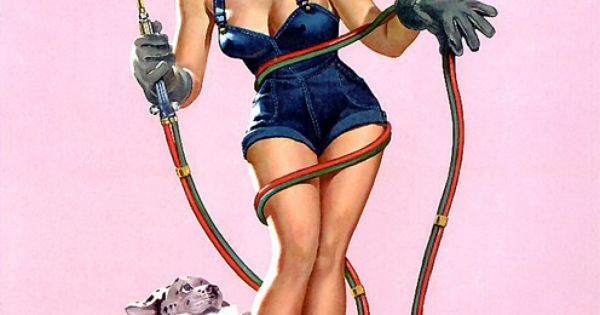 Pin up tattoo idea, with red hair :-)